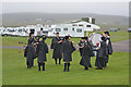 NG7578 : Pipe band at Sands Holiday Centre (1) by Nigel Brown