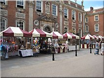 SO8554 : Market stalls and the Guildhall by Philip Halling