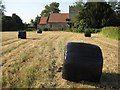 SO8742 : Haylage bales, Earl's Croome by Philip Halling