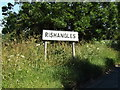 TM1568 : Rishangles Village Name sign by Adrian Cable