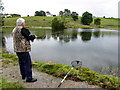 H6269 : Fishing at Termon Trout Fishery by Kenneth  Allen