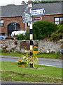NY6137 : The yellow bikes of Melmerby (1) by Oliver Dixon