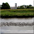 SN4006 : Rivebank view of Kidwelly fire station tower  by Jaggery