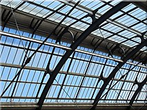 NZ2463 : Newcastle Central Station - roof detail by Mike Quinn