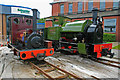 SE3032 : Two Hunslet locomotives at the place of their birth by Chris Allen