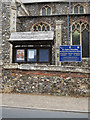 TG2115 : Church of St.Mary & St.Andrew Notice Board & sign ] by Adrian Cable