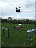 TM3886 : Village Name Sign by Keith Evans