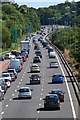 TQ0758 : Queuing traffic on the A3 approaching the M25 at Wisley by David Martin