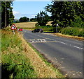 SO3509 : SLOW/ARAF on the road near opposite Llwyn Corner by Jaggery