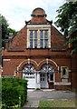 TQ2178 : Parish church hall, Bedford Park by Julian Osley