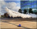 SJ8097 : Daytime Performance, Mini Burble at MediaCityUK by David Dixon