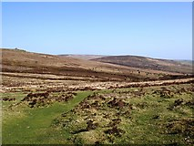 SX6781 : Moorland view looking east from the car park at Bennett's Cross by David Gearing