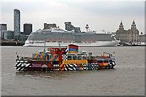 SJ3290 : MV Snowdrop and Royal Princess, River Mersey by El Pollock