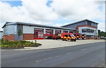 SO8555 : The new Worcester Fire Station (3), McKenzie Way, Great Western Business Park, Worcester by P L Chadwick