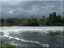 SK3536 : Weir on the River Derwent by JThomas