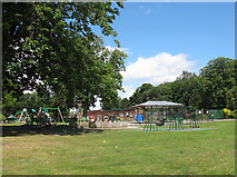 SJ6855 : Queen's Park: playground (1) by Stephen Craven