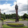SJ6855 : Queen's Park: clock tower by Stephen Craven