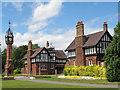 SJ6855 : Queen's Park: north gate lodges by Stephen Craven