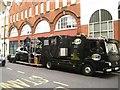 TQ3082 : Film crew preparing to shoot a scene in a car, King's Cross Road, London by Robin Stott