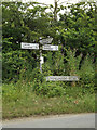 TM3173 : Roadsign & Heveningham Road sign by Adrian Cable