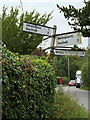 TM2171 : Roadsign on Worlingworth Road by Adrian Cable