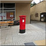 SJ8588 : Postbox on Cheadle High Street by Gerald England