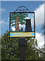 TM1250 : Barham Village sign by Adrian Cable