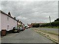 TG0533 : Homes in Fakenham Road, Briston by Adrian S Pye