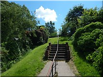 NS5372 : Steps leading up to Roman Park by Lairich Rig