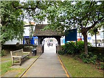 SJ8588 : St Mary's Lych Gate by Gerald England