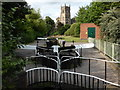 SO8276 : Kidderminster lock and St Mary & All Saints Church by Chris Allen