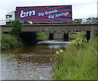 SJ7758 : M6 Motorway Bridge No 147A by Mat Fascione
