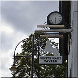 SJ8588 : Sign of the White Hart Tavern by Gerald England