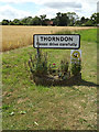 TM1469 : Thorndon Village Name sign on Rishangles Road by Adrian Cable