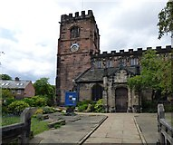 SJ8588 : St Mary's Parish Church, Cheadle by Gerald England