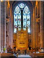 SJ3589 : Chancel, High Altar and Te Deum Window, Liverpool Cathedral by David Dixon