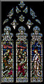 SO8932 : Stained glass window, south nave, Tewkesbury Abbey by Julian P Guffogg