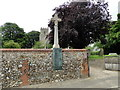 TF9434 : The War Memorial plaque at Great Snoring by Adrian S Pye