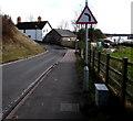 ST3190 : Left bend sign alongside Pillmawr Road, Malpas, Newport by Jaggery