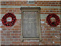 TF9930 : Fulmodeston War Memorial and Roll of Honour by Adrian S Pye