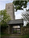 SS6138 : St Michael & All Angels church, Loxhore: lych gate  by Basher Eyre