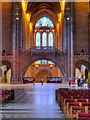 SJ3589 : Liverpool Cathedral, The Great Space and Dulverton Bridge by David Dixon
