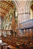 SM7525 : Bishop's throne, St Davids by Philip Pankhurst