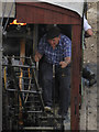 NY3224 : Threlkeld Quarry & Mining Museum - steam excavator driver by Chris Allen