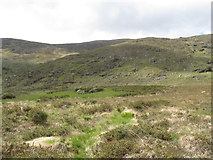 J3530 : View southwest towards the Mournes across the Tullybranigan valley  moraine by Eric Jones