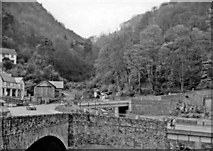 SS7249 : Lynmouth, 1960: SW up the Glen Lyn Gorge by Ben Brooksbank