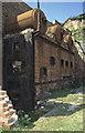 SH4094 : Porth Wen Brick Works - derelict boiler by Chris Allen