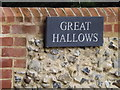 TM1170 : Great Hallows sign by Adrian Cable