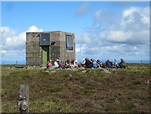 S2706 : Hikers and Summit Structure by kevin higgins