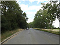 TM2564 : Layby on the A1120 Saxtead Road by Geographer